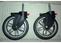 Колесо переднее поворотное с сборе с рессорой для прогулочных колясок